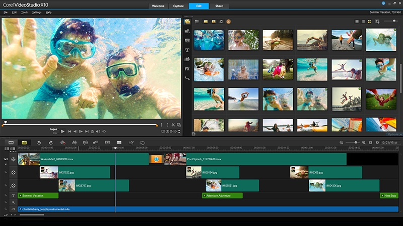 Corel VideoStudio cũng nằm trong top những công cụ hỗ trợ sản xuất video được nhiều người tin dùng.