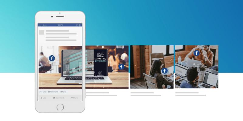 Carousel ads trên Facebook hiện cho phép người dùng tận dụng tối đa 10 ảnh hoặc video trong một quảng cáo.