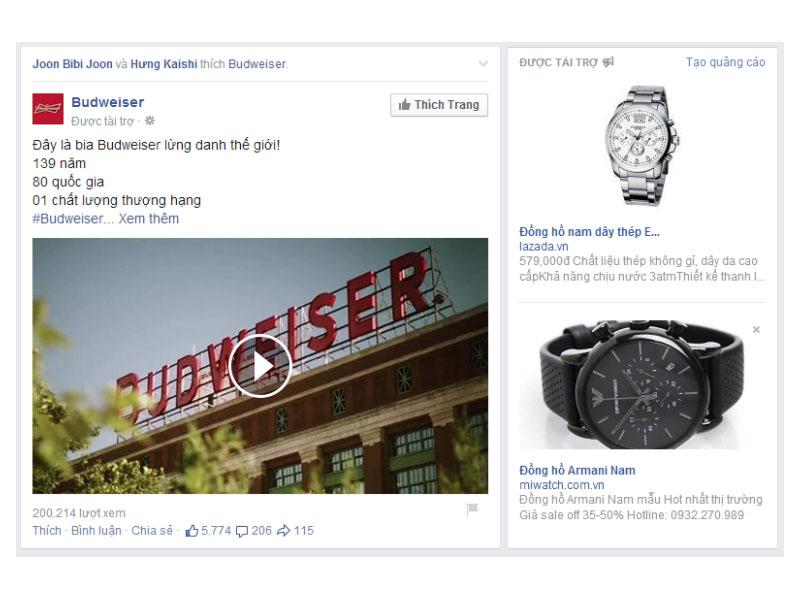 Ads Facebook được tài trợ là hình thức không quá hiếm gặp