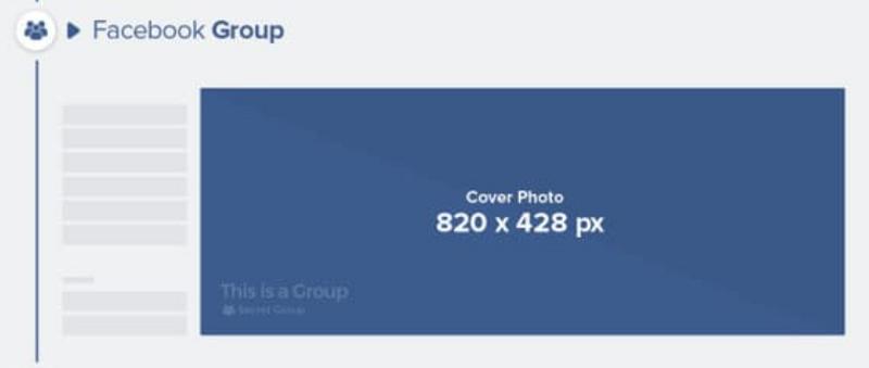 Kích thước cover group Facebook tối thiểu: 820 x 428 px