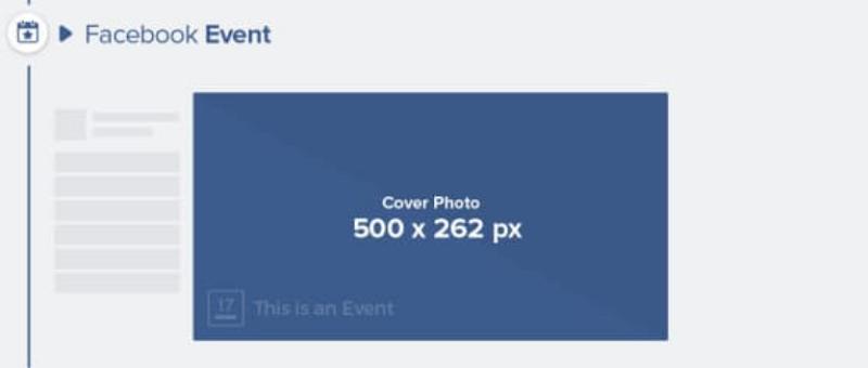 Kích thước ảnh bìa event Facebook tối thiểu là: 500 x 262 px