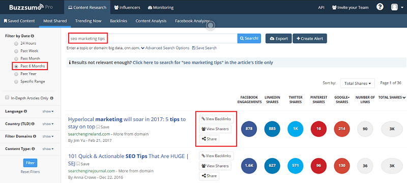 BuzzSumo là công cụ sáng tạo, giúp nâng cao chất lượng các bài viết.