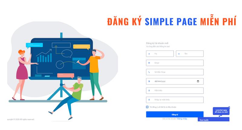 SimplePage hỗ trợ làm landing page hiệu qủa và tiết kiệm thời gian, công sức.