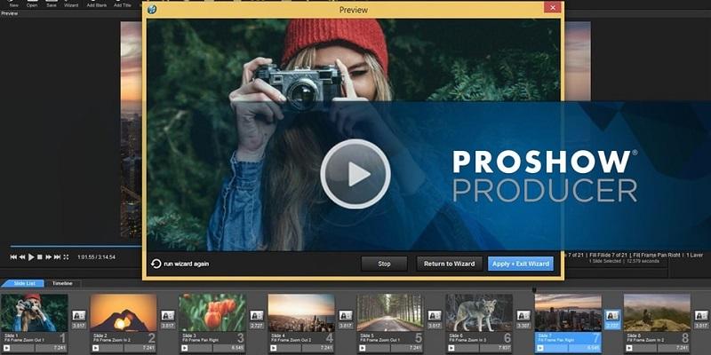 Proshow Producer được nhiều người sử dụng bởi giao diện đơn giản, dễ sử dụng.